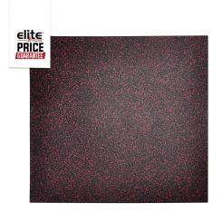 STAR-LITE RUBBER FLOOR TILE BLACK/ROSE