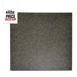 STAR-LITE RUBBER FLOOR TILE BLACK/YELLOW