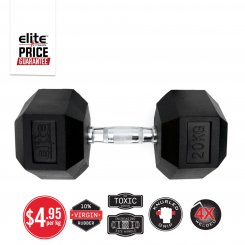 CHROME HANDLE RUBBER HEX DUMBBELL