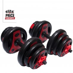 20KG PREMIUM RED/BLK DUMBBELL SET