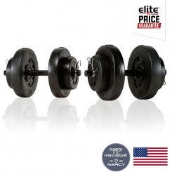 40LBS VINYL DUMBBELL SET
