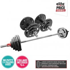 52KG EZI-GRIP BARBELL DUMBBELL SET