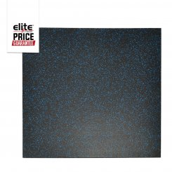 STAR-LITE RUBBER FLOOR TILE BLACK/BLUE