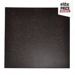 STAR-LITE RUBBER FLOOR TILE BLACK/ORANGE