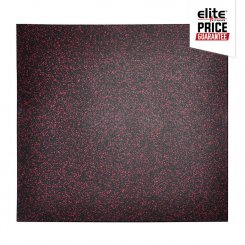 STAR-LITE RUBBER FLOOR TILE BLACK/ROSE