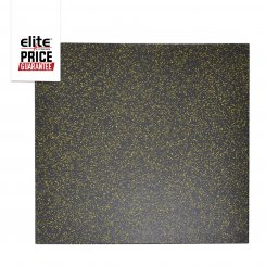 STAR-LITE RUBBER FLOOR TILE BLACK/YELLOW
