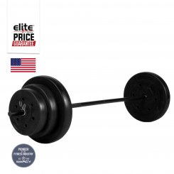 100LB VINYL BARBELL WEIGHT SET