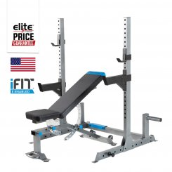 OLYMPIC CARBON BENCH W/ SQUAT RACK