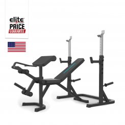 MULTI-USE OLYMPIC BENCH W/ RACK