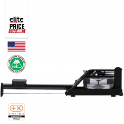 A1S4 WALNUT HOME ROWING MACHINE - BLACK