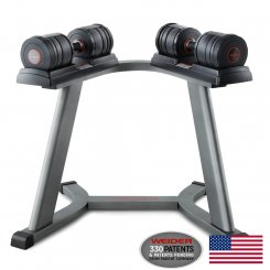 100LB SPEED DUMBBELL SET W/ STAND - EX DEMO